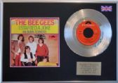 "THE BEE GEES  - 7"" Platinum Disc + cover - I STARTED A JOKE"